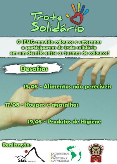 banner do 1º Trote Solidário