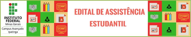 Banner Resultado Edital de Assistência Estudantil 2018/1