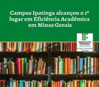 Campus Ipatinga alcançou o 1º lugar em Eficiência Acadêmica entre as instituições da RFEPCT em Minas Gerais