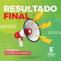 Divulgado o resultado final do Edital 01/2020 - IFMG Campus Ipatinga- Bolsa Permanência