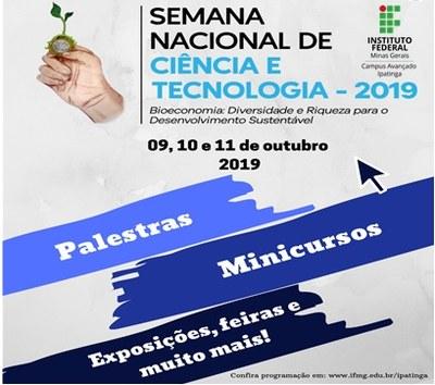 Campus Ipatinga promoverá a IV Semana de Ciência e Tecnologia