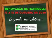 Renovação de Matrícula 2º Semestre / 2020 – ENGENHARIA ELÉTRICA