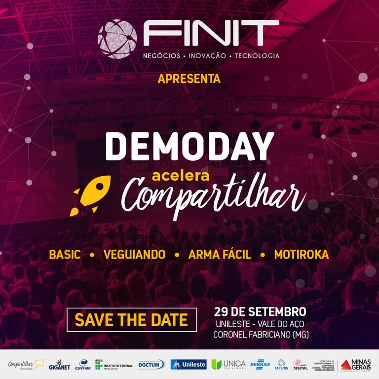 Participe do Demoday Acelera Compartilhar: apresentação de startups locais