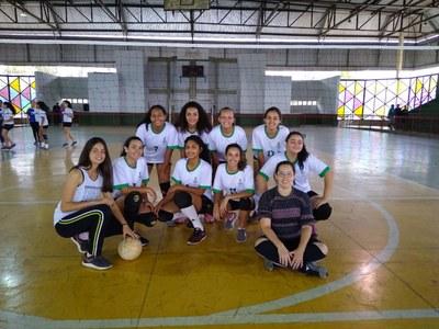 Equipe de Volei Feminino do IFMG Ouro Branco