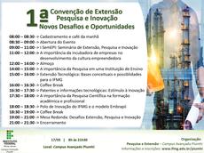 Convite 1ª Convenção de Extensão, Pesquisa e Inovação