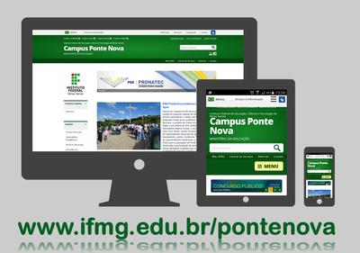 Site do campus exibido em vários dispositivos
