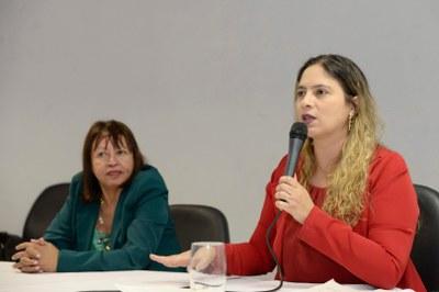 Maria das Graças (diretora do Instituto Federal Minas Gerais – Campus Ribeirão das Neves – IFMG),Beatriz Cerqueira (deputada estadual PT/MG)