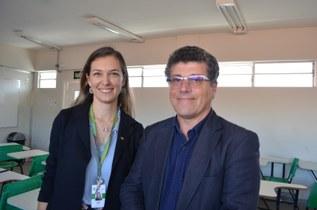 Ana Cristina Costa, da Arinter, recebe professor português Carlos Ramos