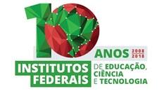 Selo comemorativo dos 10 anos dos Institutos Federais