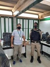 Thiago Bruno com o Tenente Moreira da PMMG