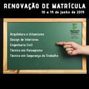 Renovação de Matrícula 2019.2